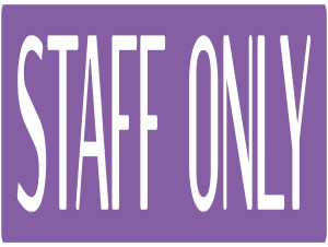 staff only copy